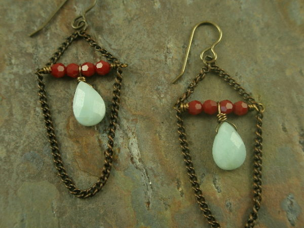 Alba Handcrafted Natural Stone Earrings-0