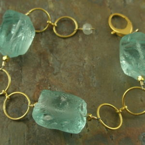 Gold Chunky Handcrafted Bracelet-0