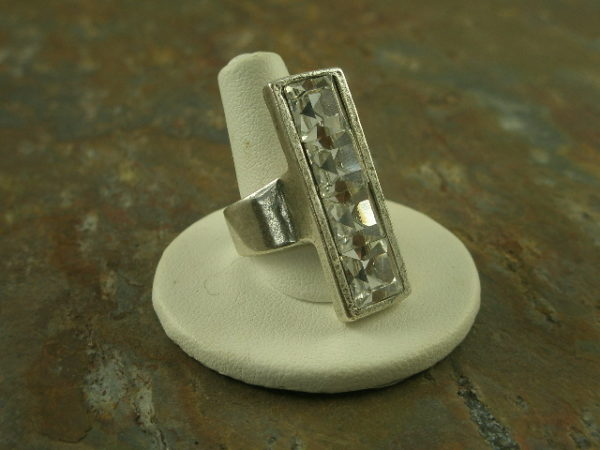 Diamond Knuckle Crystal Statement Ring-0