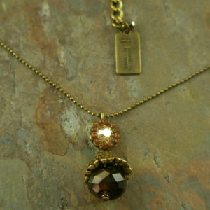 Golden Italy Vintage Style Crystal Handmade Necklace-0