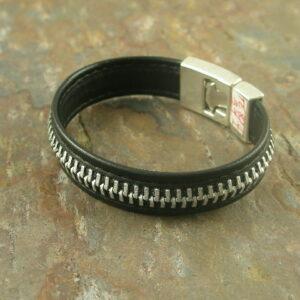 Zip Me Up Leather Bracelet-0