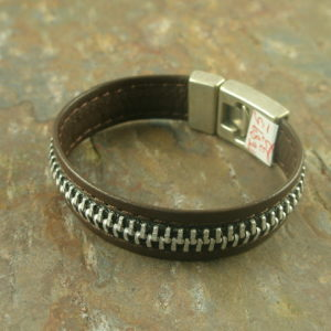 Zip Me Up 2 Leather Bracelet-0