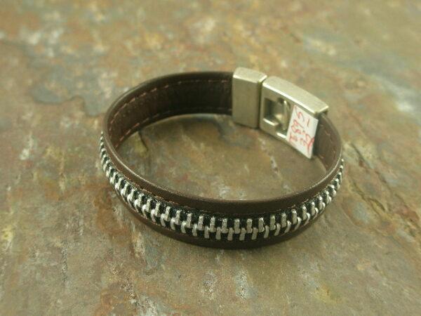 Zip Me Up 2 Leather Bracelet-0