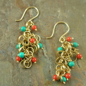 Tiny Mix Handcrafted Semi-Precious Earrings-0