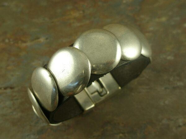 Santa Fe Stud Leather Bracelet-0