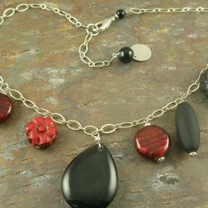 Strawberry Glass Fashion Necklace-0