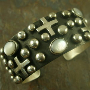 Holy and Pure Native American Cross Statement Cuff-0