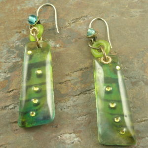 Uptown Tribal Handrafted Resin Earrings-0