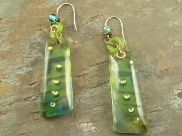 Uptown Tribal Handrafted Resin Earrings-0
