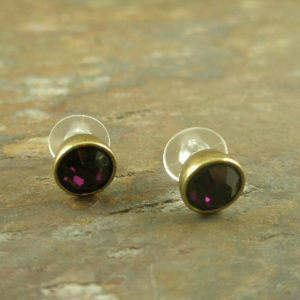 Purple Power Fashion Stud Earrings-0