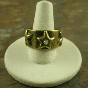 Ringo Handcrafted Brass/Crystal Fashion Ring-0