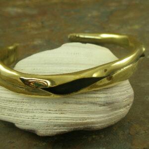 Split Personality Unusual Brass Cuff Bracelet-0