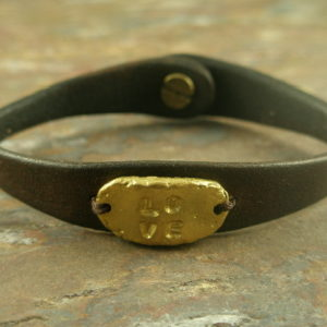 Love Me in Brown Handmade Leather Bracelet-0