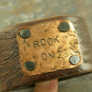 Rock On Again Re-claimed Handcrafted Leather Bracelet-0