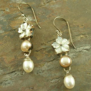 Three in One Handcrafted Pearl Earrings-0