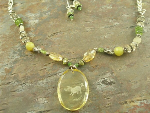 This Little Piggy Original Glass/Stone Necklace-0