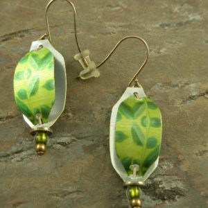 Green Tea Unique Earrings-0