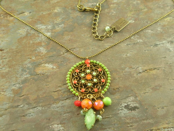 Color Flash Italian Crystal Necklace -0