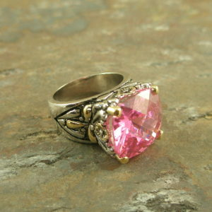 Pink Wanna Be Fashion Statement Ring-0