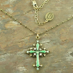 The Easter Cross Crystal Fashion Cross Necklace-0
