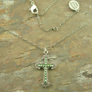 Mini Cross Fashion Crystal Cross Necklace-0