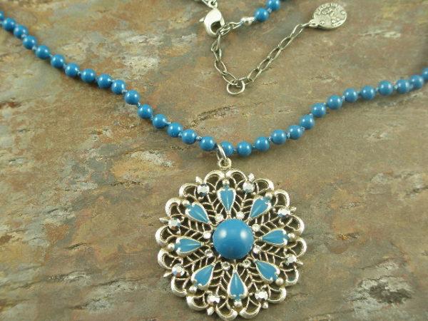 Wheel of Fortune Bead/Crystal Fashion Necklace-0