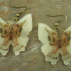 Butterfly Birth Resin Statement Earrings-0