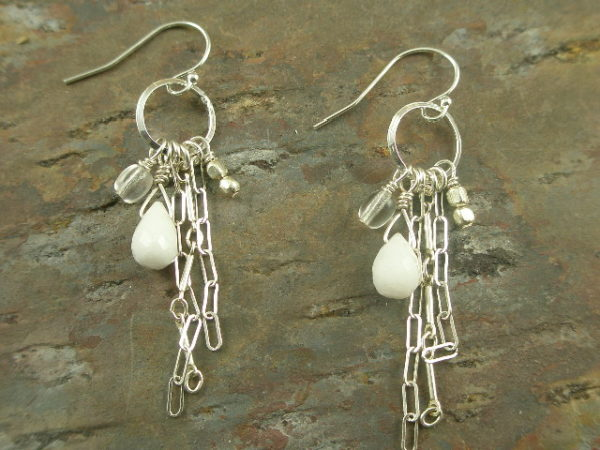Maija Handcrafted Sterling Silver Dangle Earrings-0