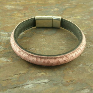 Pink Skins are In Leather Magnet Bracelet-0