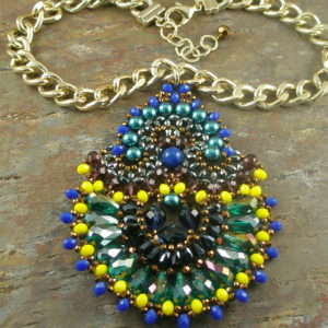 The Wow Peacock Resin Statement Necklace-0