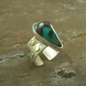 Boulder Opal Beauty One of a Kind Ring-0