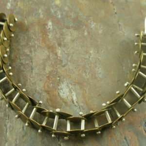 Get It In Gear One Of A Kind Brass Bracelet -0