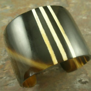 Don't Lose Your Stripes Buffalo Horn Cuff Bracelet-0