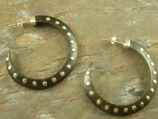 You Studd Wooden Hoop Earrings-0