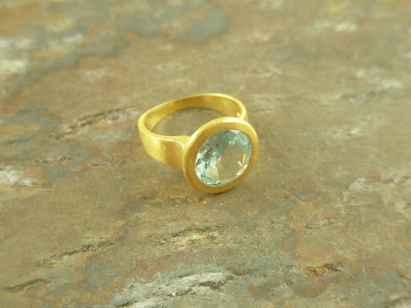Blue Topaz Contemporary RingOcean Minded -0