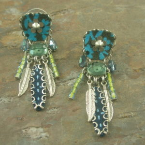 Ruffled Feathers Israeli Designed Unique Earrings-0