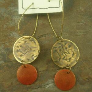In A Brass Fashion Long Earring-0