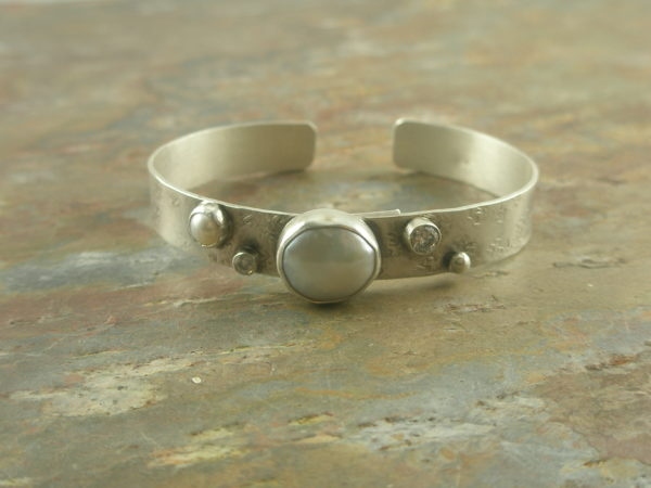 Another Perfect Handcrafted Sterling Silver Cuff Bracelet-0