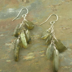 Grey Sticks Semi Precious Sterling Silver Earrings-0