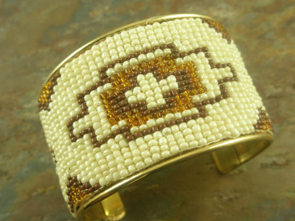 Southwest Southeast Fashion Beaded Cuff Bracelet-0