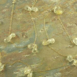 Endless Tears Golden Long Necklace-0