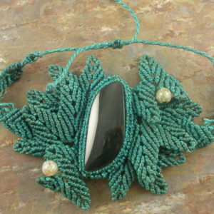 Jungle Leaves Handcrafted Macrame Bracelet-0