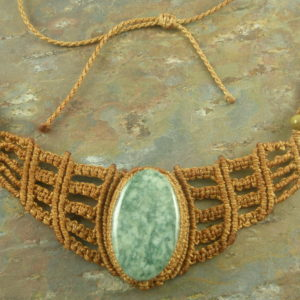 Garden Moss Macrame Necklace-0