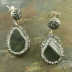 So Vogue Tourmaline Crystal Earrings-0