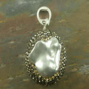 Snap On Glamour Pearl Pendant-0