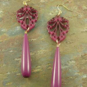 Fruit Of The Vine Resin Fashion Earrings-0