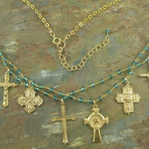 Eight Crosses On Blue Quartz-0