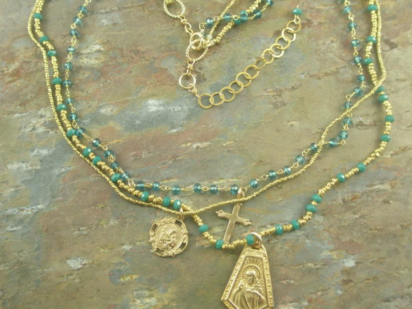 An Apatite For Medals Necklace/Cross-0