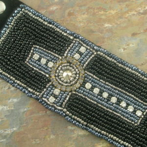 Shine On Black Fashion Cross Bracelet-0