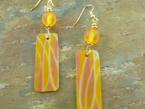Acrylic EarringsButterscotch Kisses -0